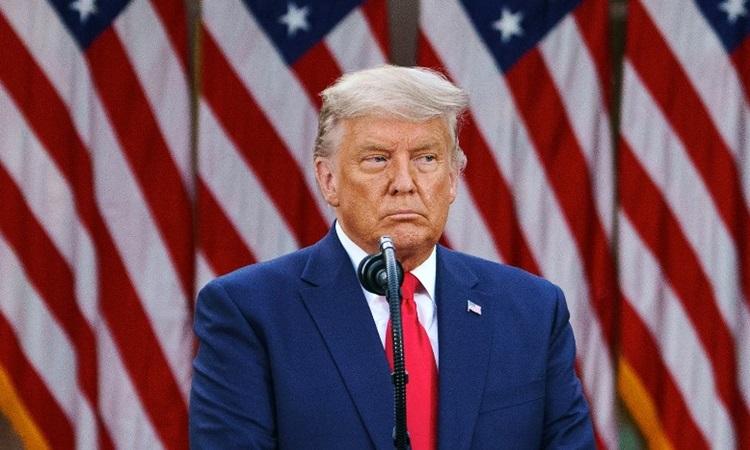 Tổng thống Mỹ Donald Trump họp báo tại Nhà Trắng hôm 13/11. Ảnh: AFP.