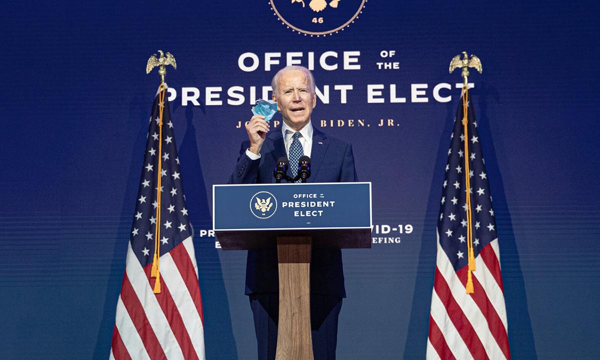 Joe Biden nói về khẩu trang trong bài phát biểu tại Wilmington, bang Delaware hôm 9/11. Ảnh: NYTimes.