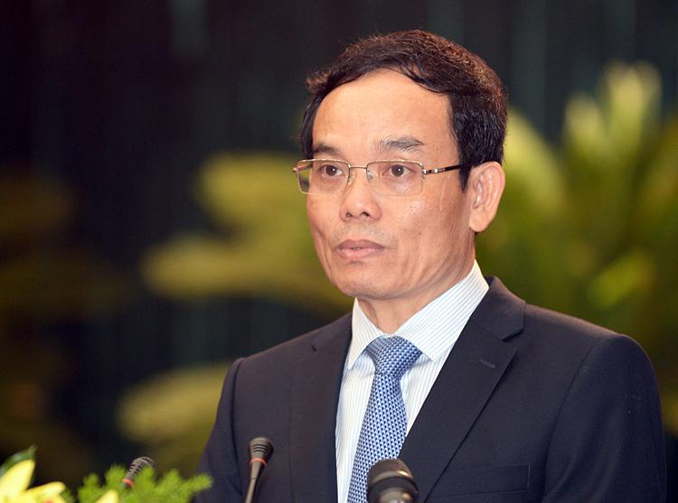 Phó bí thư Thường trực Thành uỷ TP HCM Trần Lưu Quang tại hội thảo. Ảnh: Trung Sơn