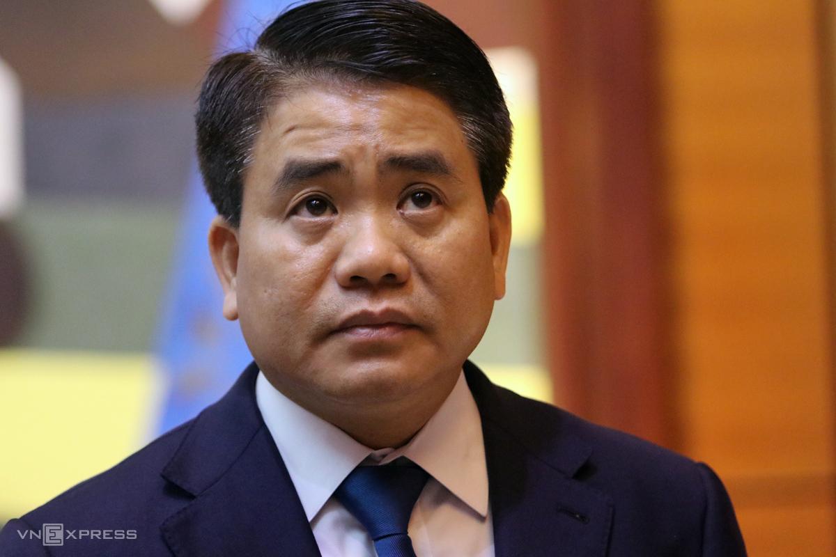 Ông Chung trước khi bị bắt. Ảnh: Võ Hải.