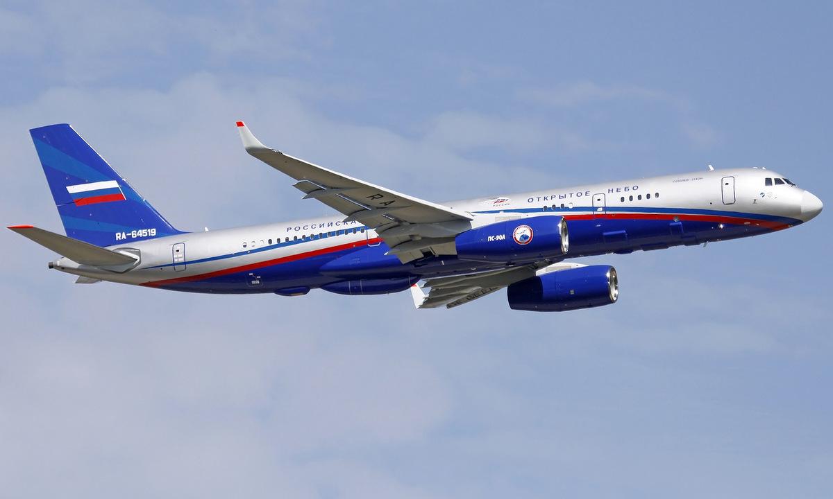Máy bay Tu-214ON được Nga dùng cho các chuyến bay trong khuôn khổ hiệp ước. Ảnh: Wikipedia.
