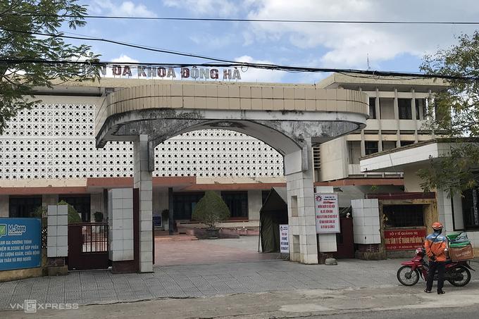 Trung tâm y tế TP Đông Hà, nơi bệnh nhân 904 và chồng cùng cách ly phòng chống dịch Covid-19. Ảnh: Hoàng Táo