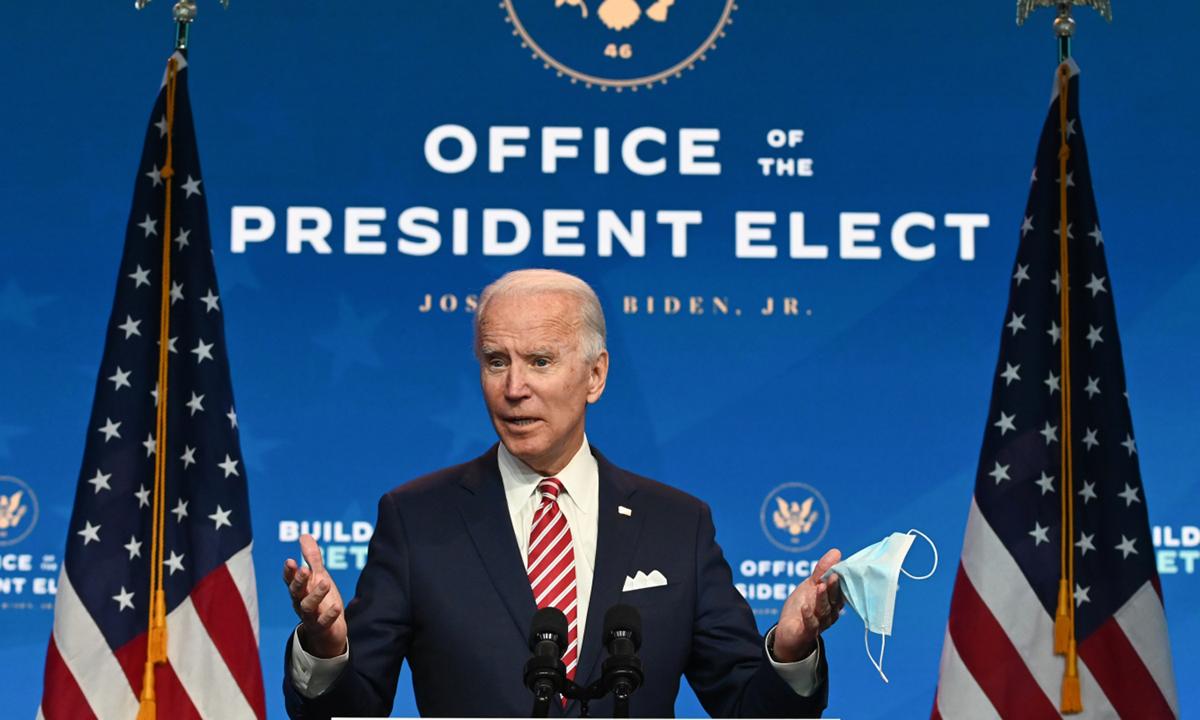 Joe Biden phát biểu tại Wilmington, bang Delaware hôm 16/11. Ảnh: AFP.
