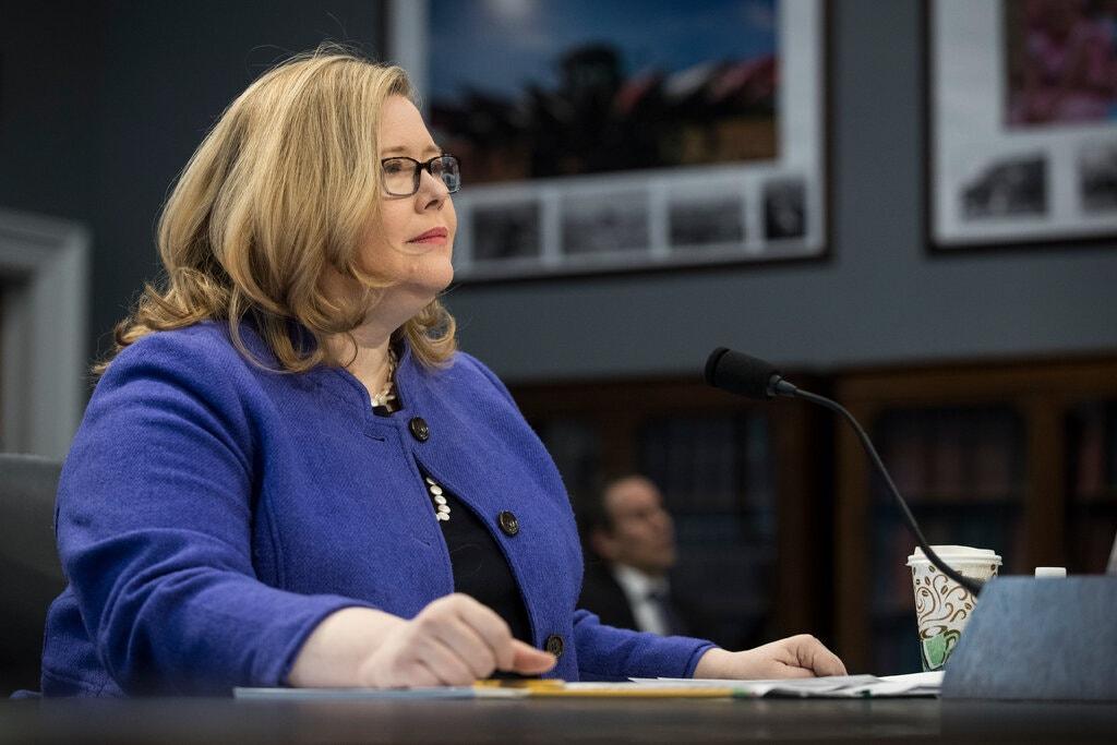 Gám đốc Cơ quan Dịch vụ Công Mỹ (GSA) Emily Murphy. Ảnh: NY Times.