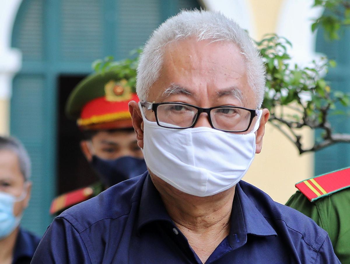 Ông Trần Phương Bình tại tòa. Ảnh: Quỳnh Trần.