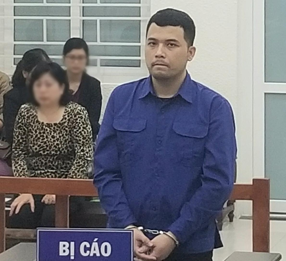 Bị cáo Chu Mạnh Hưng tại phiên toà