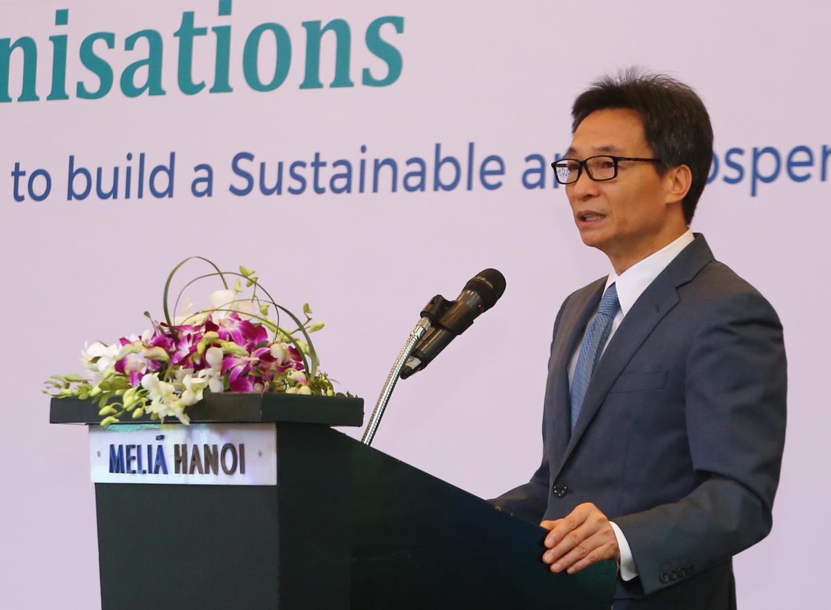 Phó Thủ tướng phát biểu tại sự kiện. Ảnh: Đình Nam.