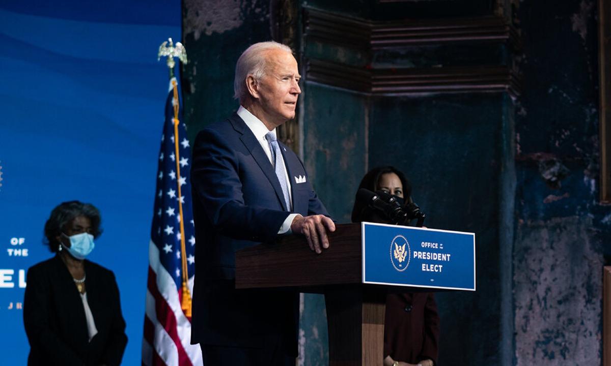 Joe Biden phát biểu tại thành phố Wilmington, bang Delaware. Ảnh: NYTimes.