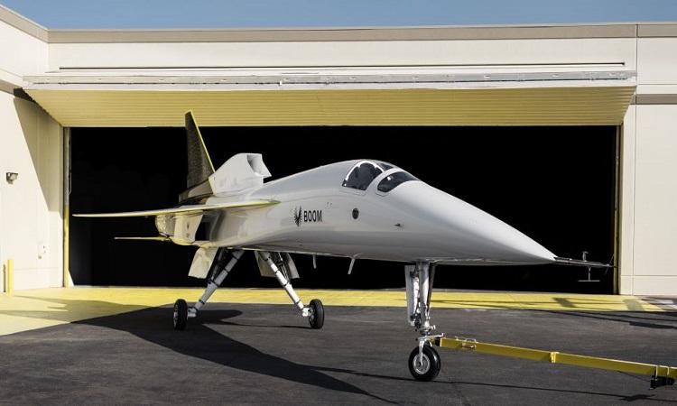 Boom Supersonic ra mắt máy bay thử nghiệm XB-1 hồi tháng 10/2020. Ảnh: Boom Supersonic.