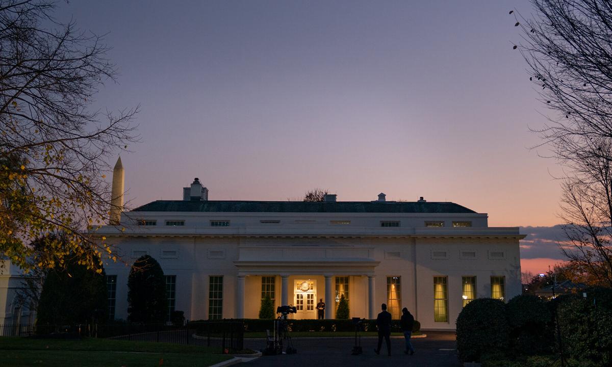 Cánh Tây Nhà Trắng hôm 23/11. Ảnh: NYTimes.