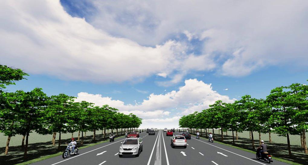 Phối cảnh đường ven biển nối các tỉnh miền Tây đi TP HCM. Ảnh: Ban Quản lý dự án.