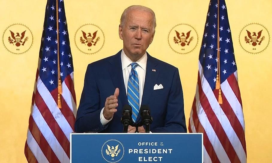 Tổng thống đắc cử Joe Biden phát biểu trong Lễ Tạ ơn ở Wilmington, Delaware, hôm 25/11. Ảnh: Reuters