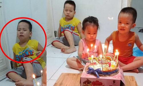 Bé trai tự úp mặt vào bánh sinh nhật - 2