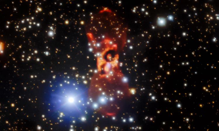 Vụ nổ đánh dấu sự xuất hiện của CK Vulpeculae là một bí ẩn suốt 350 năm. Ảnh: Đài thiên văn Gemini/NOIRLab/NSF/AURA.