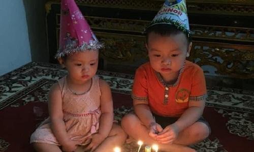 Bé trai tự úp mặt vào bánh sinh nhật - 3