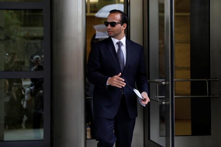 George Papadopoulos, cựu cố vấn chiến dịch tranh cử của Trump, tại Washington hồi năm 2018. Ảnh: Reuters.