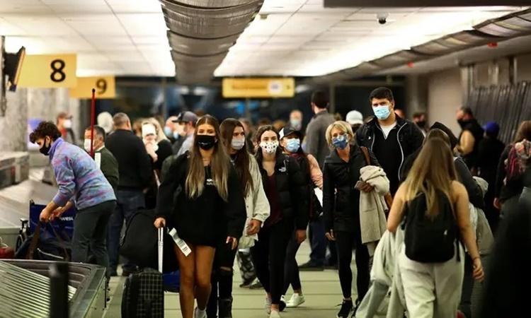 Sân bay quốc tế Denver, bang Colorado, Mỹ, ngày 24/11. Ảnh: Reuters.
