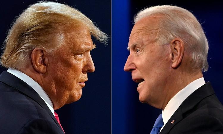 Tổng thống Mỹ Donald Trump và Tổng thống đắc cử Joe Biden. Ảnh: AFP.