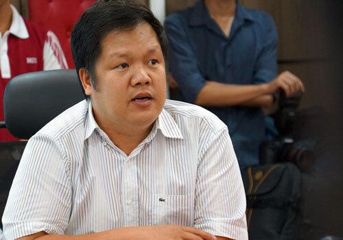 TS Đàm Quang Minh tại tọa đàm. Ảnh: Mạnh Tùng