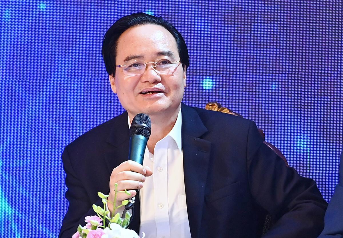 Bộ trưởng Phùng Xuân Nhà nói về các giải pháp đào tạo nhân lực. Ảnh: Giang Huy.