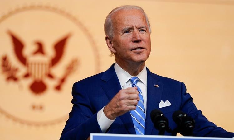 Tổng thống đắc cử Mỹ Joe Biden phát biểu tại Wilmington, Delaware, ngày 25/11. Ảnh: AP.
