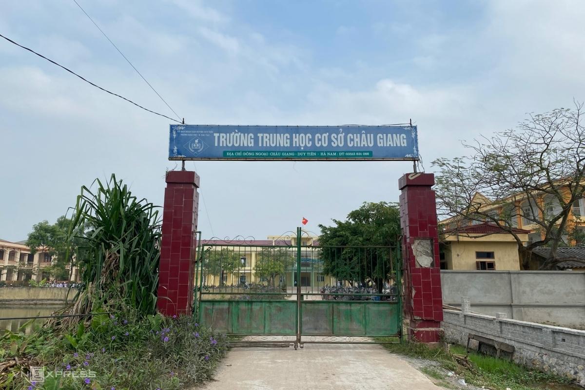 Trường THCS Châu Giang, thị xã Duy Tiên, Hà Nam. Ảnh: Thanh Hăng