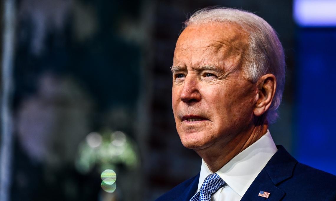 Tổng thống đắc cử Mỹ Joe Biden phát biểu trong cuộc họp báo tại Wilmington, bang Delaware, hôm 24/11. Ảnh: AFP.