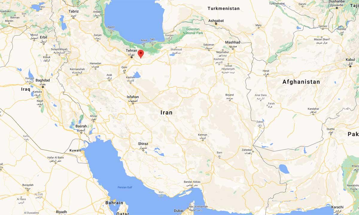 Vị trí thành phố Absard (đánh dấu đỏ). Đồ họa: Google.