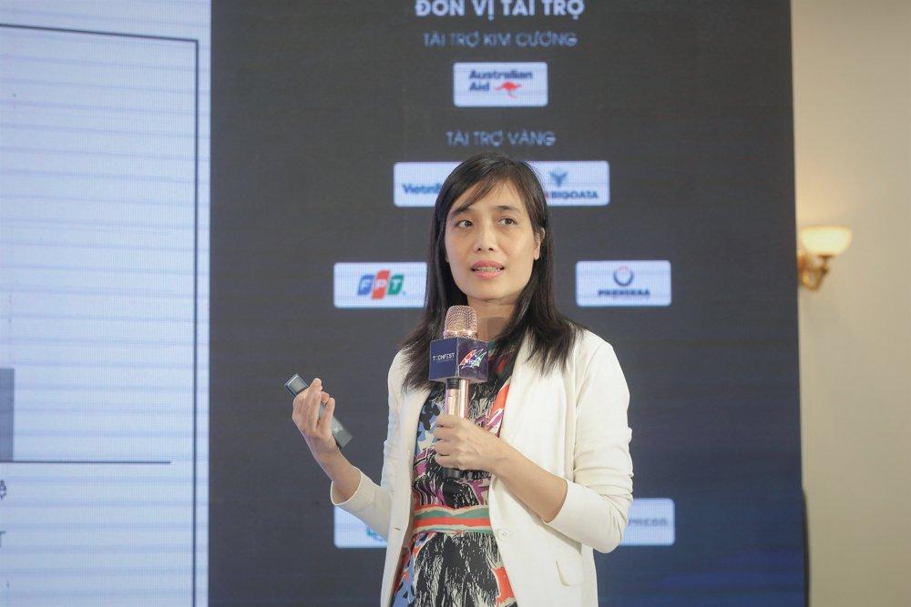 PGS Huỳnh Thị Thanh Bình nói về nhu cầu nhân lực AI. Ảnh: BTC.