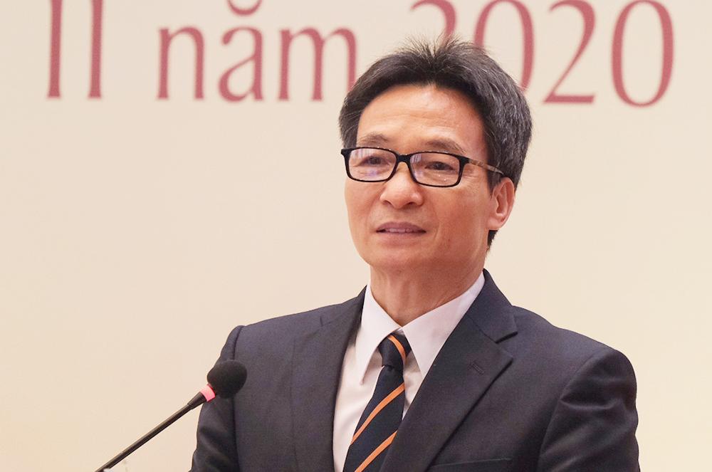 Phó thủ tướng Vũ Đức Đam phát biểu tại hội thảo giáo dục do Uỷ ban Văn hóa, Giáo dục, Thanh niên, Thiếu niên và Nhi đồng của Quốc hội tổ chức ngày 27/11. Ảnh: Dương Tâm.