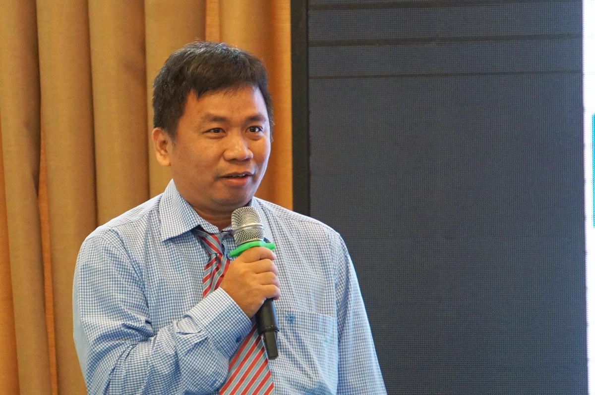 PGS TS Quản Thành Thơ nói về thực trạng đào tạo AI tại TP HCM. Ảnh: Mạnh Tùng.