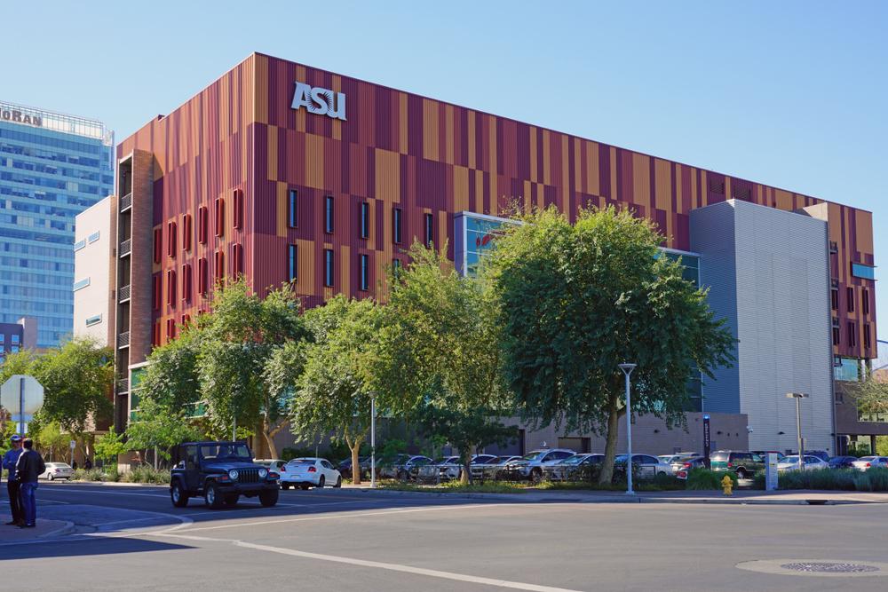 Đại học Arizone State, trường top 1 trong bảng xếp hạng. Ảnh: Shutterstock