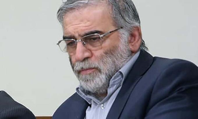 Mohsen Fakhrizadeh trong buổi gặp mặt với lãnh đạo tối cao Iran Ali Khamenei tháng 2/2019. Ảnh: WANA.