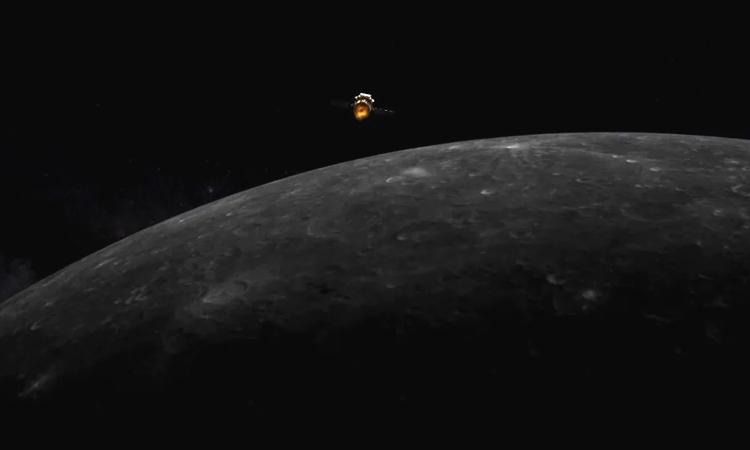 Minh họa tàu Hằng Nga 5 tiến vào quỹ đạo Mặt Trăng. Ảnh: Chương trình Thám hiểm Mặt Trăng Trung Quốc.