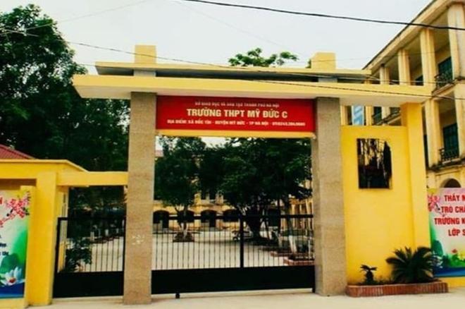 Trường THPT Mỹ Đức C, huyện Mỹ Đức, Hà Nội. Ảnh: Đoàn trường THPT Mỹ Đức C