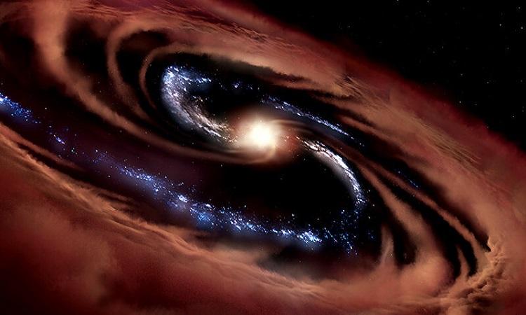 Mô phỏng thiên hà CQ4479. Ảnh: NASA/ Daniel Rutter.
