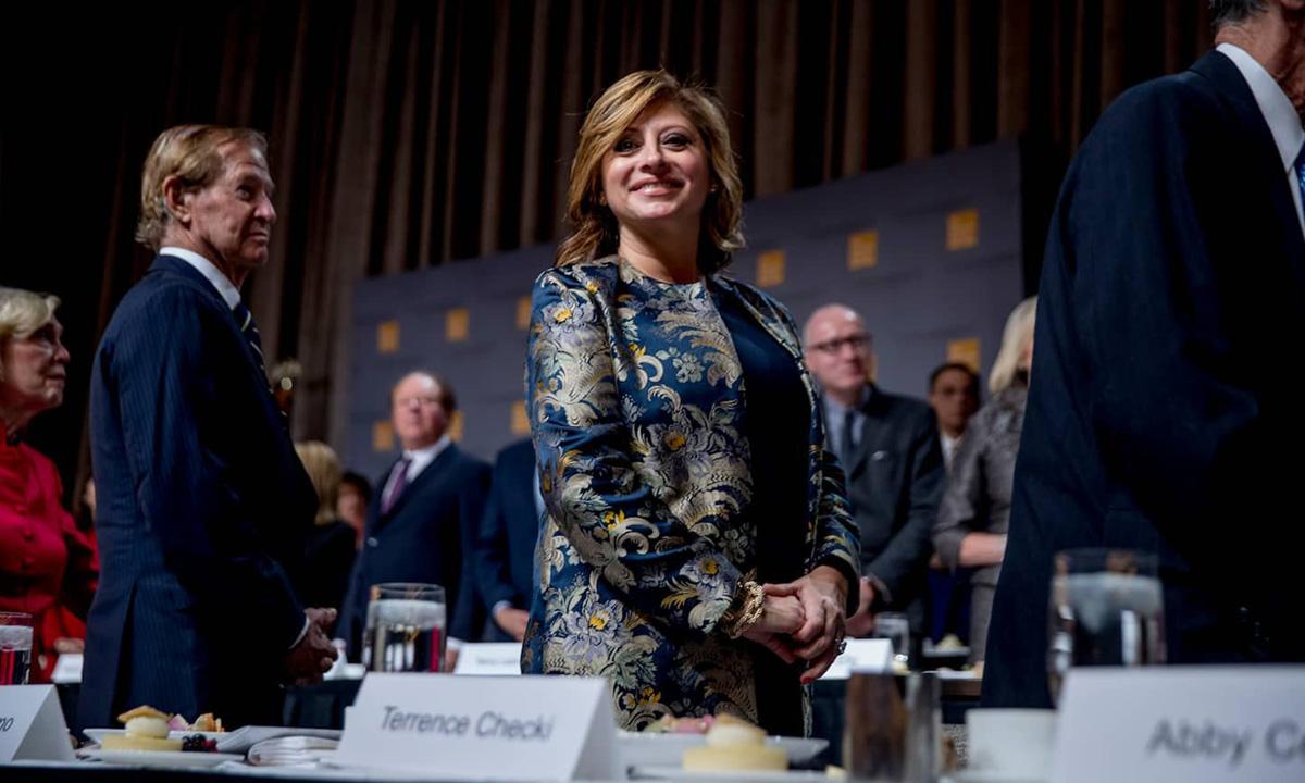 Maria Bartiromo (giữa), người dẫn chương trình Sunday Morning Futures của Fox News. Ảnh: AP.