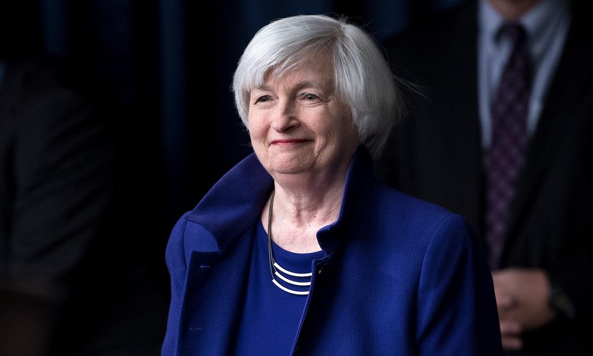 Janet Yellen khi còn là chủ tịch FED hồi năm 2017. Ảnh: AFP.