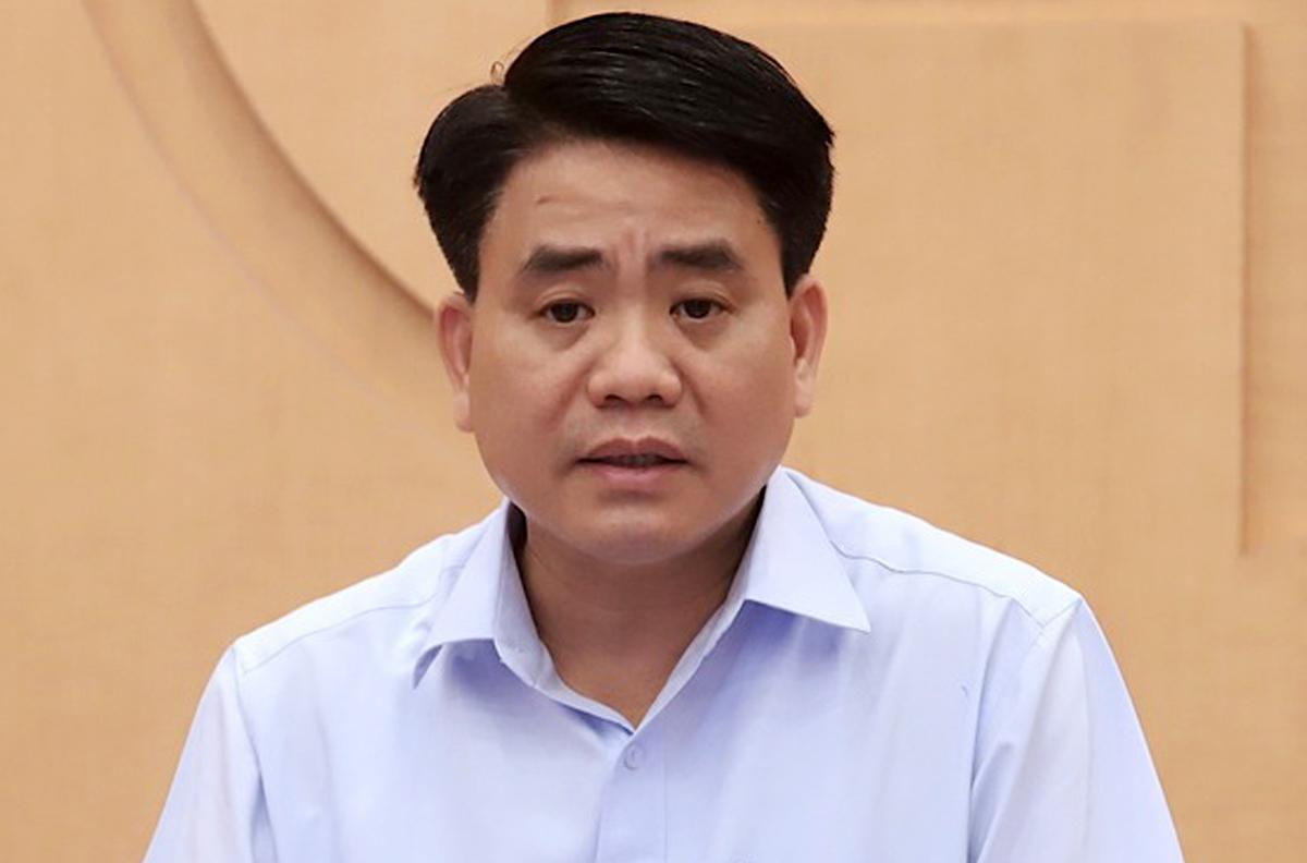 Cựu chủ tịch Hà Nội Nguyễn Đức Chung. Ảnh: Võ Hải.