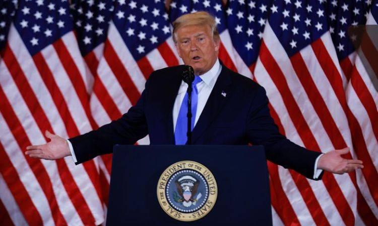 Tổng thống Trump phát biểu tại Nhà Trắng ngày 4/11. Ảnh: Reuters.