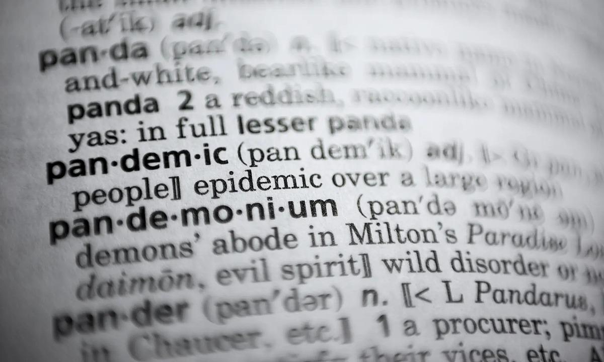 Từ pandemic (đại dịch) trong từ điển. Ảnh: AP