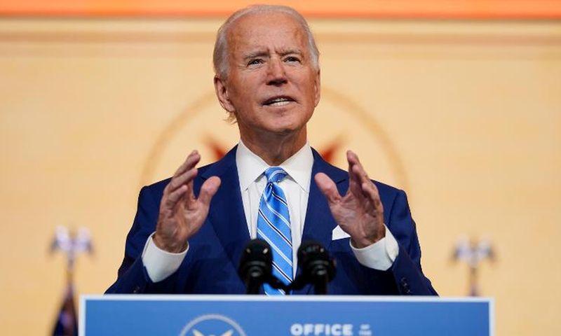 Tổng thống đắc cử Joe Biden phát biểu trong ngày Lễ Tạ ơn 25/11 tại Wilmington, Delaware. Ảnh: AP