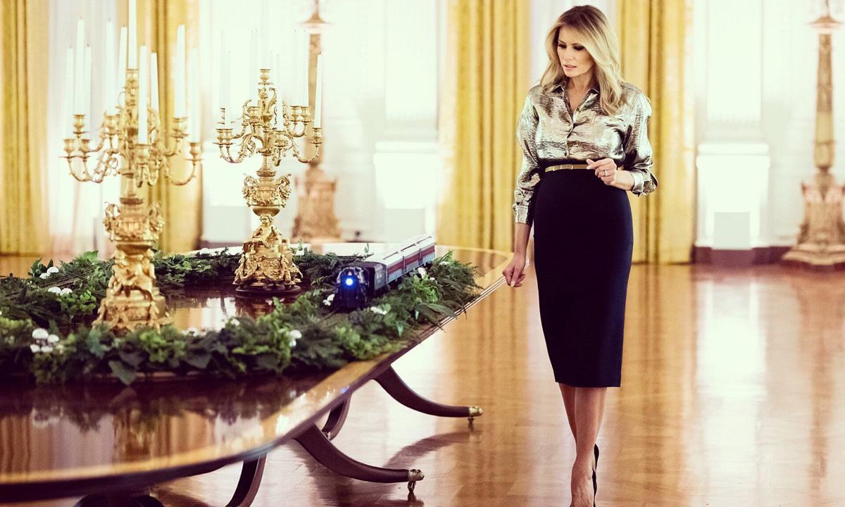 Đệ nhất phu nhân Melania tại Nhà Trắng. Ảnh: Twitter/Melania Trump.