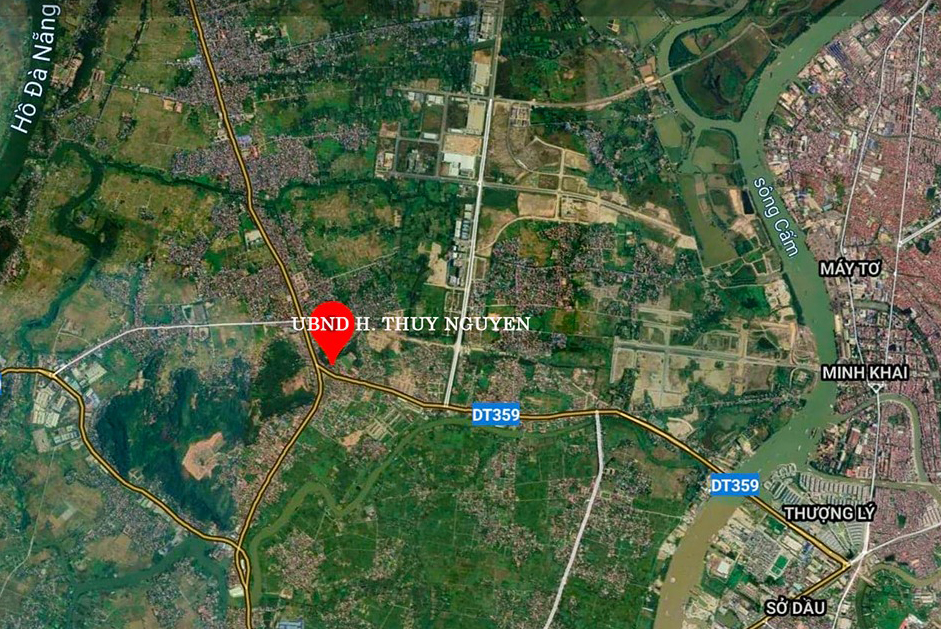 Huyện Thủy Nguyên nằm ở phía Bắc của thành phố Hải Phòng.