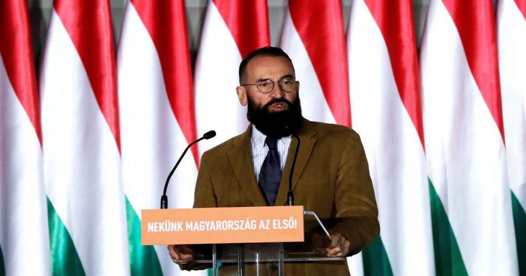 Ông József Szàjer vận động ở Budapest, Hungary, các cuộc bỏ phiếu của Nghị viện châu Âu năm 2019. Ảnh: Reuters.