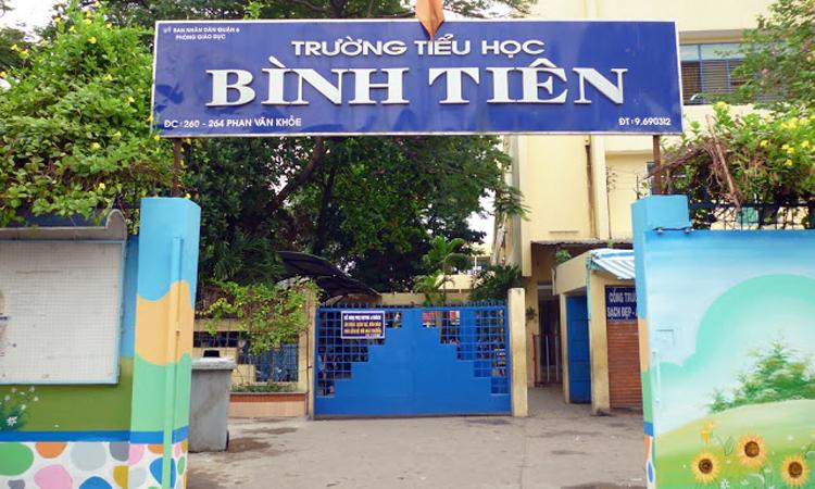 Trường Tiểu học Bình Tiên ở phường 5, quận 6. Ảnh: Thư viện trường Tiểu học Bình Tiên.