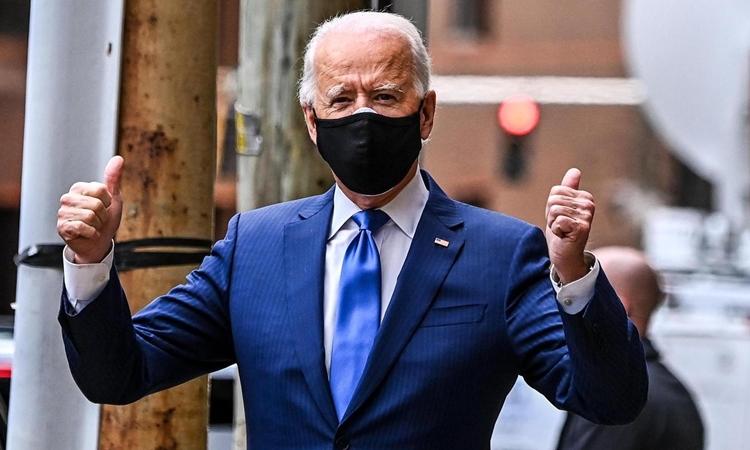 Tổng thống đắc cử Joe Biden ở Wilmington, Delaware, hôm 1/12. Ảnh: AFP.