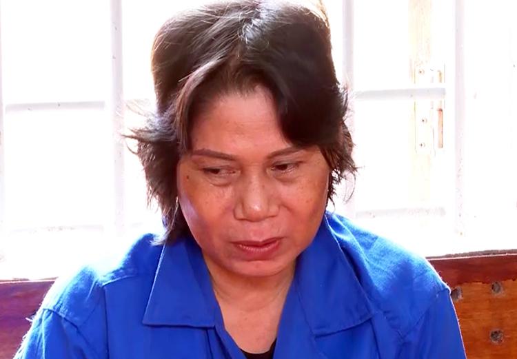 Bị can Võ Thị Kim Chi tại cơ quan điều tra. Ảnh: An Bình