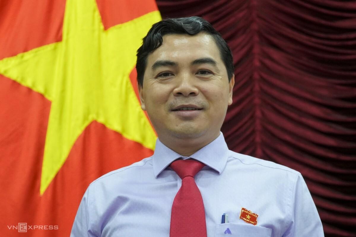 Ông Nguyễn Hoài Anh, tân Chủ tịch Hội đồng nhân dân tỉnh Bình Thuận, ngày 3/12. Ảnh: Việt Quốc.