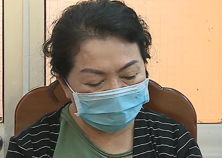 Bà Lê Thị Hạc khi bị khởi tố. Ảnh: Công an Bạc Liêu